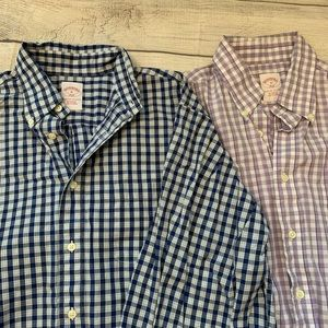 2 BROOKS BROTHERS 346 Medium Button Down Shirts